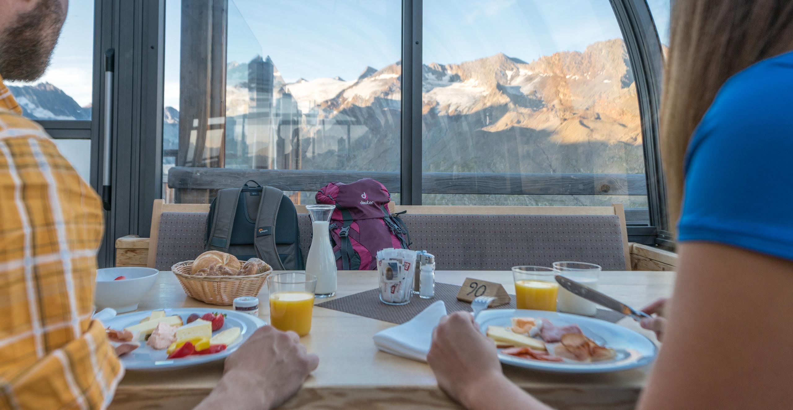 ...richtig aussergewöhnlich Frühstücken.