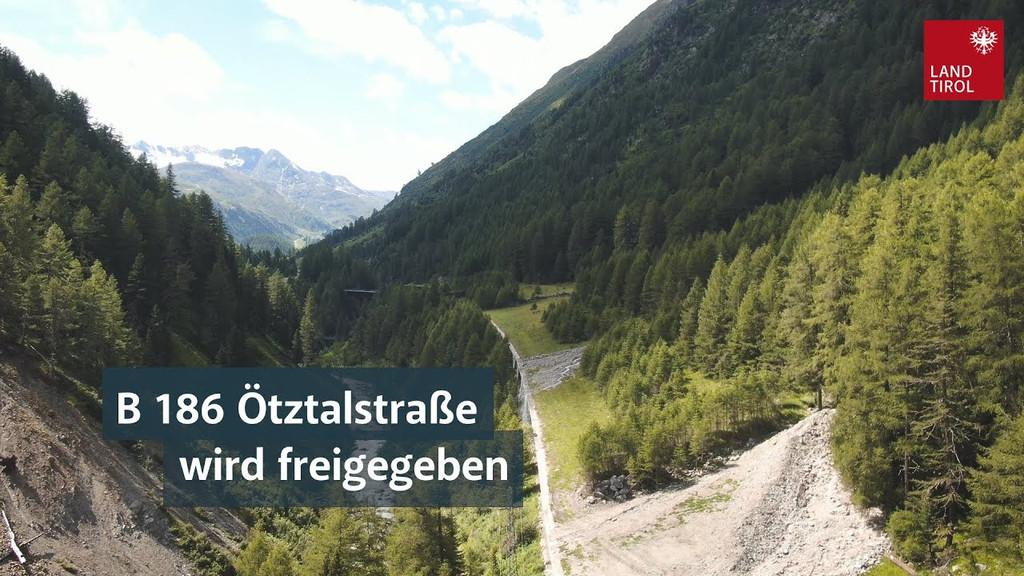 B 186 Ötztalstraße wird freigegeben